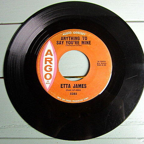 ETTA JAMES●ANYTHING TO SAY YOU'RE MINE/TRUST IN ME ARGO 5385●201210t2-rcd-7-fnレコード7インチ米盤61年ソウル60's