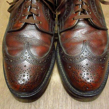 ビンテージ80's●Dexter ウイングチップシューズ赤茶 Size 6 1/2D●210609n4-m-dshs-245cm デクスター革靴レザーシューズ