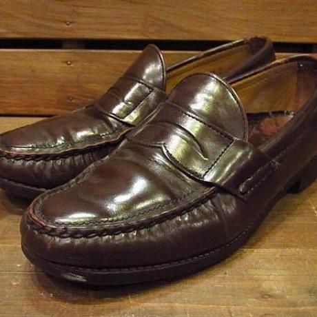 ビンテージ70's●ペニーローファーSize7 1/2D●210316n11-m-lf-255cm 1970sメンズ革靴ブラウン茶レザー