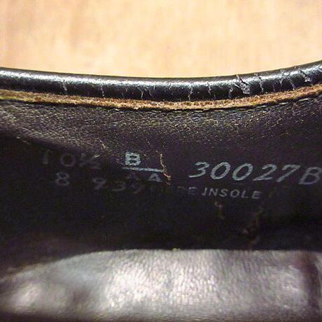 ビンテージ70's●プレーントゥシューズ黒10 1/2 B/AA●210128n4-m-dshs-285cm 1970sドレスシューズ革靴メンズ