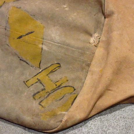 ビンテージ40's●ミリタリーハンドペイントダッフルバッグ●210430s7-bag-ot 米軍実物バラックバッグカバンキャンバス