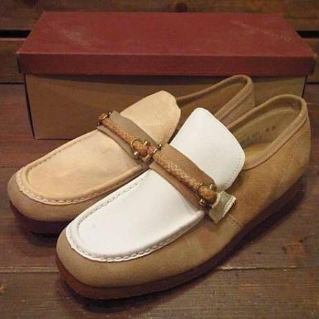ビンテージ70's●DEAD STOCK wellcoスウェードローファー8M●210317s14-m-lf-26cm 1970sデッドストックメンズ革靴