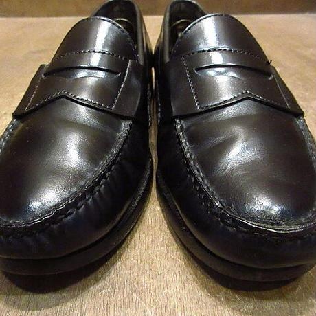 ビンテージ●LANDS' ENDペニーローファー黒10 1/2 M●210308n1-m-lf-285cm ランズエンドメンズ革靴レザーMADE IN ITALY