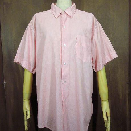 ビンテージ60's●Dress Shirt ストライプ半袖ドレスシャツ 15 1/2●210505n3-m-sssh-ot メンズトップスワイシャツ古着