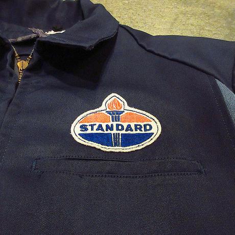 ビンテージ60's●Unitog STANDARD Oil切り返しワークジャケットsize 42R●210607f6-m-jk-ot古着アウタースタンダードオイルユニフォーム