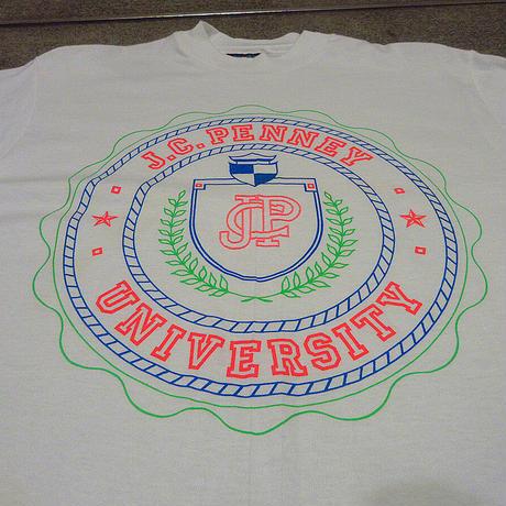 ビンテージ80's90's●DEADSTOCK J.C.PENNEY UNIVERSITYプリントTシャツsize S●210607f3-m-pnt-ot-W34古着メンズUSA製