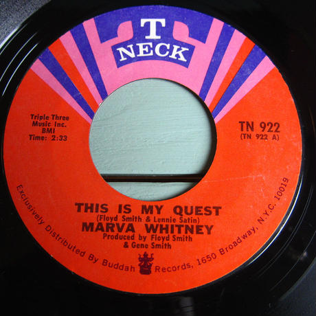 MARVA WHITNEY●THIS IS MY QUEST/GIVING UP ON LOVE T-NECK TN 922●210319t1-rcd-7-fnレコード7インチ米盤US盤ファンクソウル