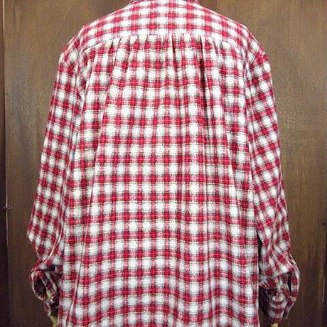 ビンテージ70's80's●Azur レディースチェックプリントフランネルシャツ 44●200102n2-w-lssh プリネル長袖ブラウス古着