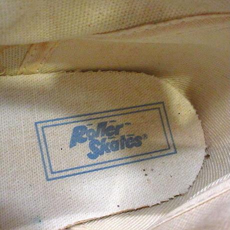 ビンテージ90's●DEADSTOCK Roller SkatesレディースキャンバススニーカーHI水色4 1/2●210308n2-w-snk-235cm 1990sデッドストック