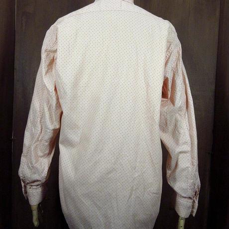 ビンテージ~20's●AVIATOR マチ付き総柄フレンチカフスドレスシャツ●210428n2-m-lssh-drs 1920's長袖コットントップス古着