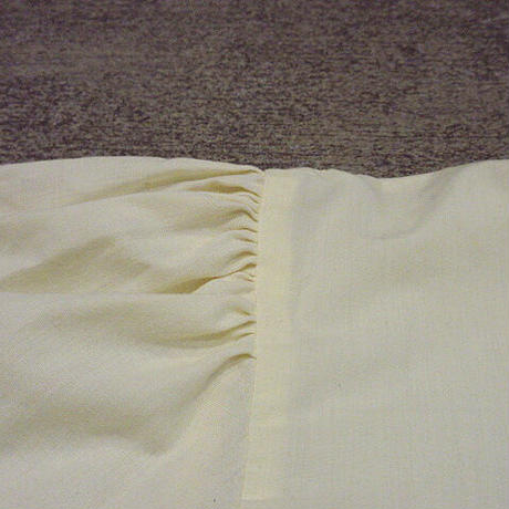 ビンテージ70's80's●BluelennyHILLレディースプリーツノーカラーシャツレモンイエローsize 10●210214s6-w-lssh長袖シャツUSA製トップス