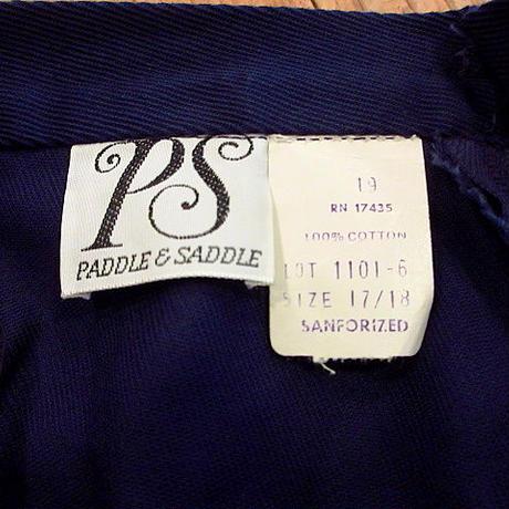 ビンテージ70's●DEADSTOCK PADDLE & SADDLEレディースコットンショーツ紺 Size 17/18●200702s6-w-sht-w29 デッドストック古着
