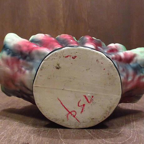 ビンテージ50's●セラミックプランター●210425n7-otclct 1950s陶器植木鉢インテリアアメリカン雑貨