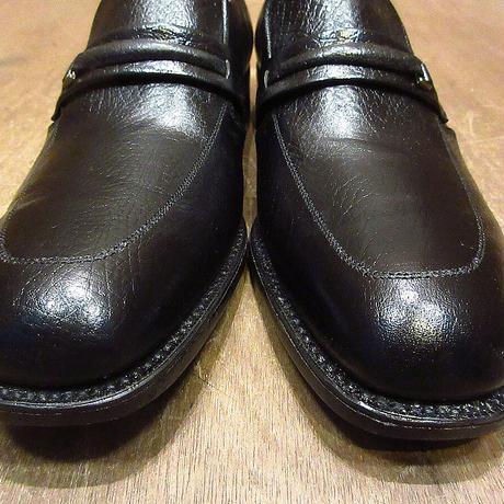 ビンテージ70's80's●DEADSTOCK WINTHROPレザーローファー黒10B●210606n1-m-lf-275cm 1970s1980sデッドストックメンズ革靴