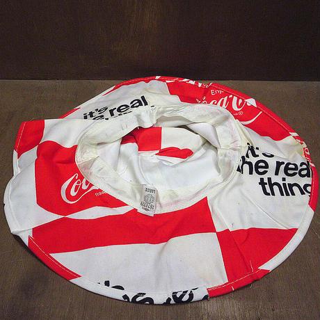 ビンテージ70's●DEADSTOCK Coca-Colaコットンチューリップハットsize L●210610n2-m-ht-otバケットハットコカコーラUSA総柄帽子