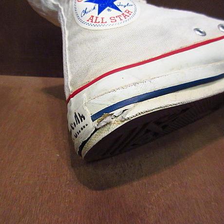 ビンテージ80's●CONVERSEレディース囲みタグオールスターHI size 5 1/2●200815n7-w-snk-24cmコンバーススニーカーサイドステッチ当て布