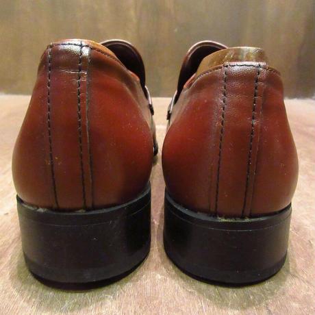 ビンテージ80's●DEADSTOCK WEYENBERGレザーローファー赤茶9 D●201126n7-m-lf-265cm 1980sデッドストック革靴メンズ