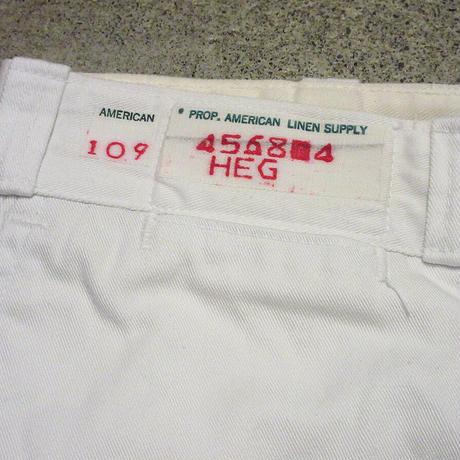 ビンテージ60's70's●American Linen Supply ボタンフライワークトラウザーズ W84cm●210430s5-m-pnt-wk-33 USAパンツボトムス白古着