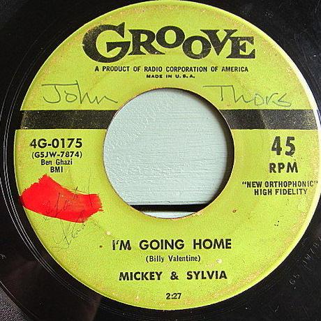 MICKEY & SYLVIA●LOVE IS STRANGE/I'M GOING HOME GROOVE 4G-0175●200623t2-rcd-7-fnレコード7インチR&B米盤50's