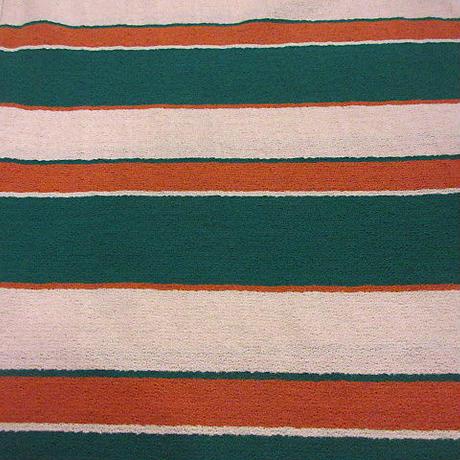 ビンテージ70's●Jantzenパイル地マルチボーダーTシャツsizeM●200618f6-m-tsh-str古着ジャンセンタオル地半袖シャツUSA製