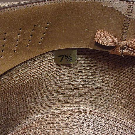 ビンテージ60's●CHAMPストローフェドラハットsize 7 5/8●210610n1-m-ht-str麦わら帽子メンズUSA中折れ帽チャンプ