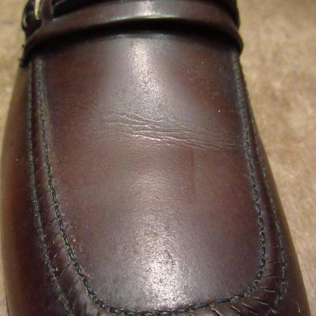 ビンテージ80's●DEADSTOCK WEYENBERGレザーローファー茶8 D●201126n8-m-lf-26cm 1980sデッドストック革靴メンズ