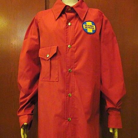 ビンテージ70's●PINE COUNTY NATIONAL SKI PATROLワッペン付きジャケットレンガ色size L●200912s8-m-jk-ot古着メンズアウトドアUSA
