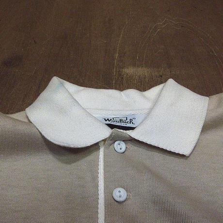 ビンテージ80's●DEADSTOCK Woolrichカンガルーポケット付きコットンポロシャツsize M●210429n5-m-plsh古着ウールリッチスウェット
