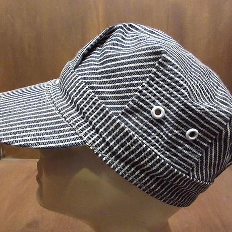 ビンテージ60's●OSHKOSHヒッコリーストライプワークキャップS●210425n2-m-cp-wk 1960sオシュコシュ帽子