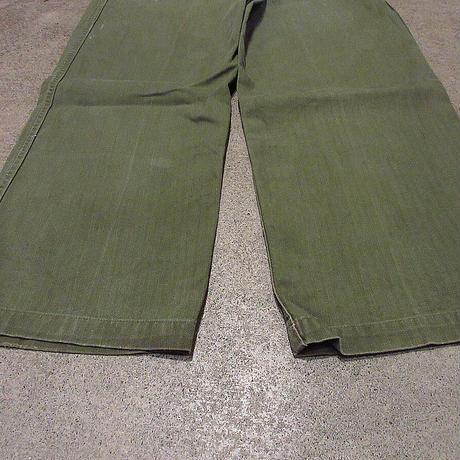 ビンテージ50's●U.S.ARMY M-47 HBTベイカーパンツ●210419f7-m-pnt-mlt-wf古着M1947 M47ミリタリー米軍実物ヘリンボーン
