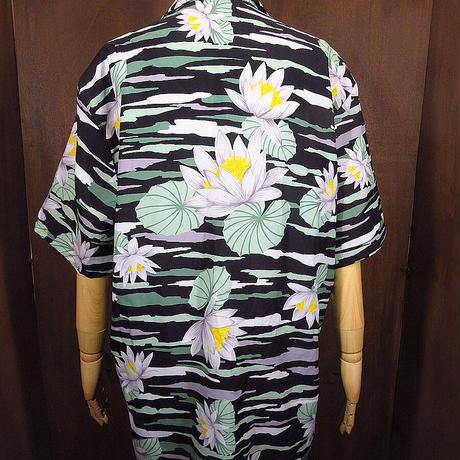 ビンテージ70's●Sears花柄ハワイアンシャツsize XL●210610n5-m-sssh-hw古着開襟シャツシアーズフラワーオープンカラーシャツ