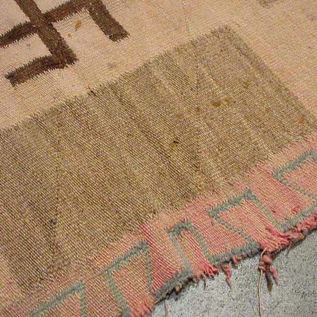 ビンテージ~30's●スワスティカナバホラグ 130cm×172cm●210430s8-rug インディアンネイティブアメリカン雑貨
