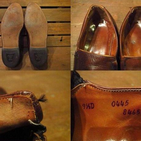 ビンテージ70's●NUNN BUSHウイングチップローファー9 1/2茶●210331s14-m-lf-275cm 1970sメンズ革靴