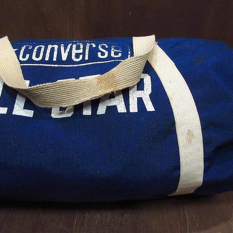 ビンテージ80's●CONVERSE ALL STAR囲みタグナイロンボストンバッグ青●210429n2-bag-bstnコンバースオールスターハンドバッグUSA