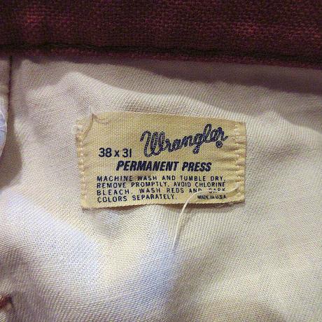 ビンテージ70's●Wranglerブーツカットパンツsize 38×31●210504s8-m-pnt-ot-W38 1970s古着ラングラーボトムスメンズUSA製