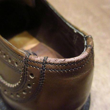 ビンテージ60's●FLORSHEIMウイングチップシューズ茶10 B●210502n1-m-dshs-28cm 1960sフローシャイム革靴ドレスシューズ