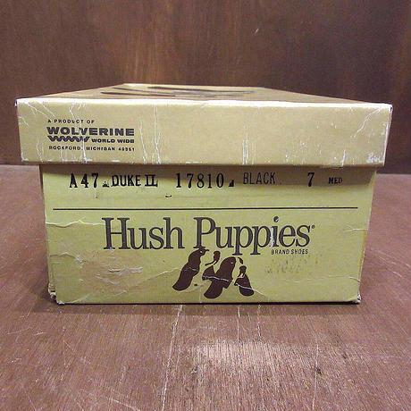 ビンテージ80's●DEADSTOCK Hush Puppies Uチップシューズ 黒 size 7 M●210603n6-w-dshs-25cmハッシュパピーズドレスシューズ