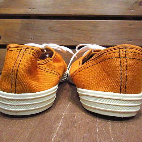 ビンテージ70's●DEADSTOCK Kratonレディースキャンバススニーカー橙size 7●210122n7-w-snk-24cmデッドストックオレンジ古靴USA製