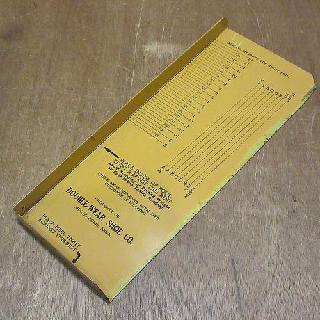 ビンテージ●DOUBLE-WEAR SHOE CO.フットメジャー●210502n7-otclct フットスケール足サイズ計測器