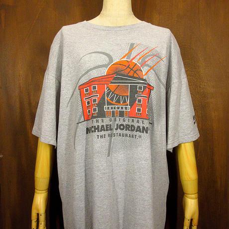ビンテージ90's●NIKE Michael Jordan's Restaurant Tシャツ グレー L●210508n2-m-tsh-ot ナイキ半袖マイケルジョーダンバスケ古着