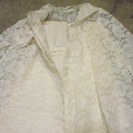ビンテージ60's●フラワーレースウェディングドレス●210302f2-w-lsdrs レディース衣装ワンピース長袖結婚式