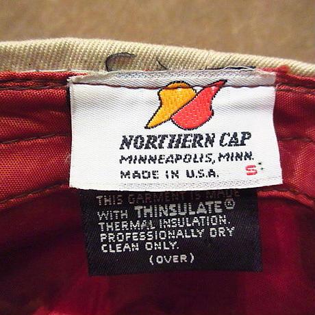 ビンテージ80's●NORTHERN CAPシンサレート8パネルキャスケットベージュS●200803n6-m-cp-cas 1980sニュースボーイキャップ帽子
