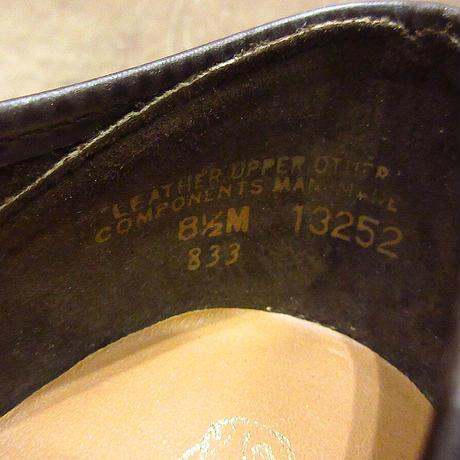 ビンテージ80's●DEADSTOCK Hush PuppiesスウェードUチップシューズ茶8 1/2 M●210606n2-m-dshs-26cm 1980sデッドストック革靴