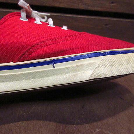 ビンテージ70's●レディースキャンバススニーカー赤size 5●210108n7-w-snk-22cm古靴USA製女性用レッド古着