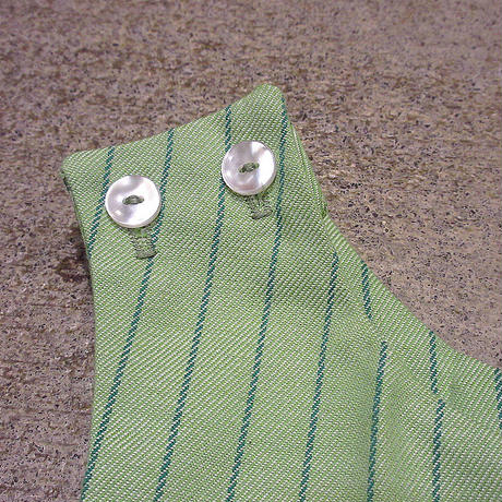 ビンテージ70's●DEADSTOCK Donmoorキッズストライプオーバーオール黄緑T4●210505s4-k-oval 1970sデッドストック子供服オールインワン