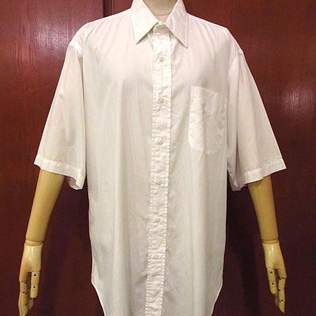 GITMAN BROSコットン半袖ドレスシャツsize16●200614f6-m-sssh-ot古着トップスUSAホワイトメンズ