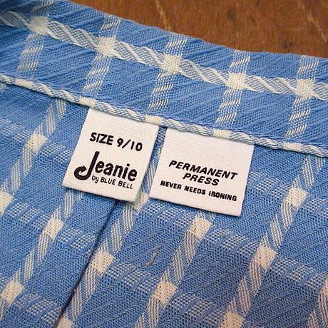 ビンテージ70's●DEADSTOCK Jeanie by BLUE BELL レディースチェックショーツ Size 9/10●200711n6-w-sht-w22 ハーフパンツ古着