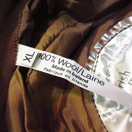ビンテージ●Jonathan Richard 8パネルツイードキャスケットXL●201025n4-m-cp-cas アイルランド製ウール