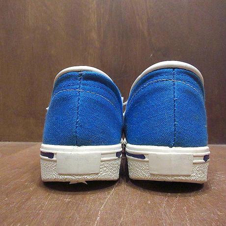 ビンテージ70's●DEADSTOCKレディース2本ラインキャンバススニーカーsize 6 1/2●210430n4-w-snk-24cm 1970s古靴デッドストックUSA製