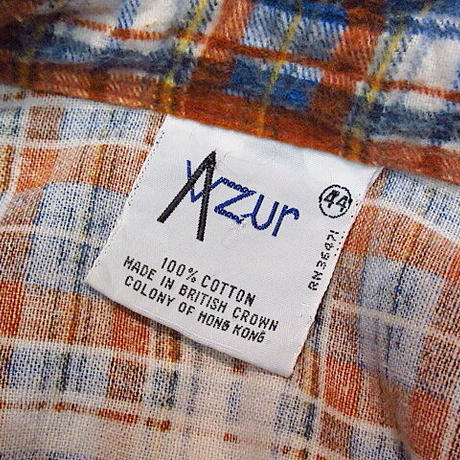 ビンテージ70's80's●Azur レディースチェックプリントフランネルシャツ 44●200102n1-w-lssh 長袖シャツブラウスプリネルプリーツ古着